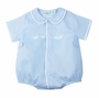 NEW Feltman Brothers Blue Romper with Boat Embroidery
