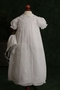 NEW Feltman Brothers Christening gown with Lace Insertion and Snowflake Embroidery