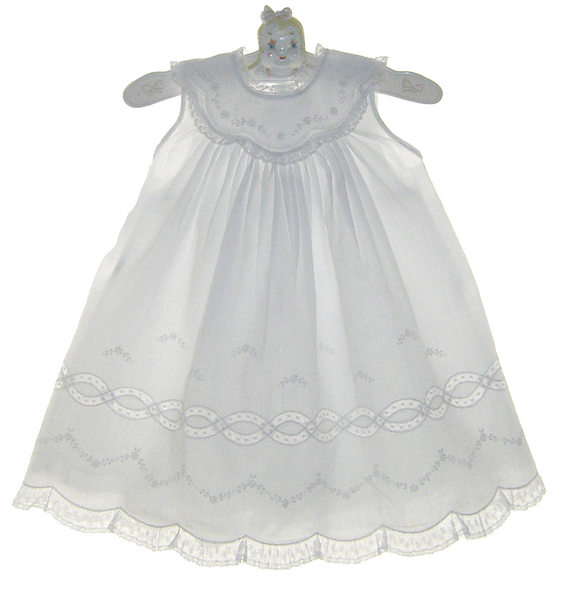 3f9b02de82c1 Feltman Brothers white christening gown with lace insertion,feltman ...