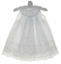 NEW Feltman Brothers Exquisitely Embroidered White Portrait Gown with Lace Insertion