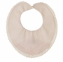 NEW Feltman Brothers Pink Bib with Bow Embroidery