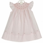"<img src=""https://p11.secure.hostingprod.com/@grammies-attic.com/ssl/images/blue-sold-1.gif""> NEW Feltman Brothers Pink Bishop Smocked Dress with Pearl Centered Flowers"