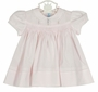 "<img src=""http://site.grammies-attic.com/images/blue-sold-1.gif"">  NEW Hand Embroidered Pink Smocked Dress with Pintucks and Lace Insertion and Matching Diaper Cover"