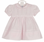 "<img src=""https://p11.secure.hostingprod.com/@grammies-attic.com/ssl/images/blue-sold-1.gif"">  NEW Feltman Brothers Pink Pintucked Dress with Lace Insertion and Fagoting and Matching Diaper Cover"