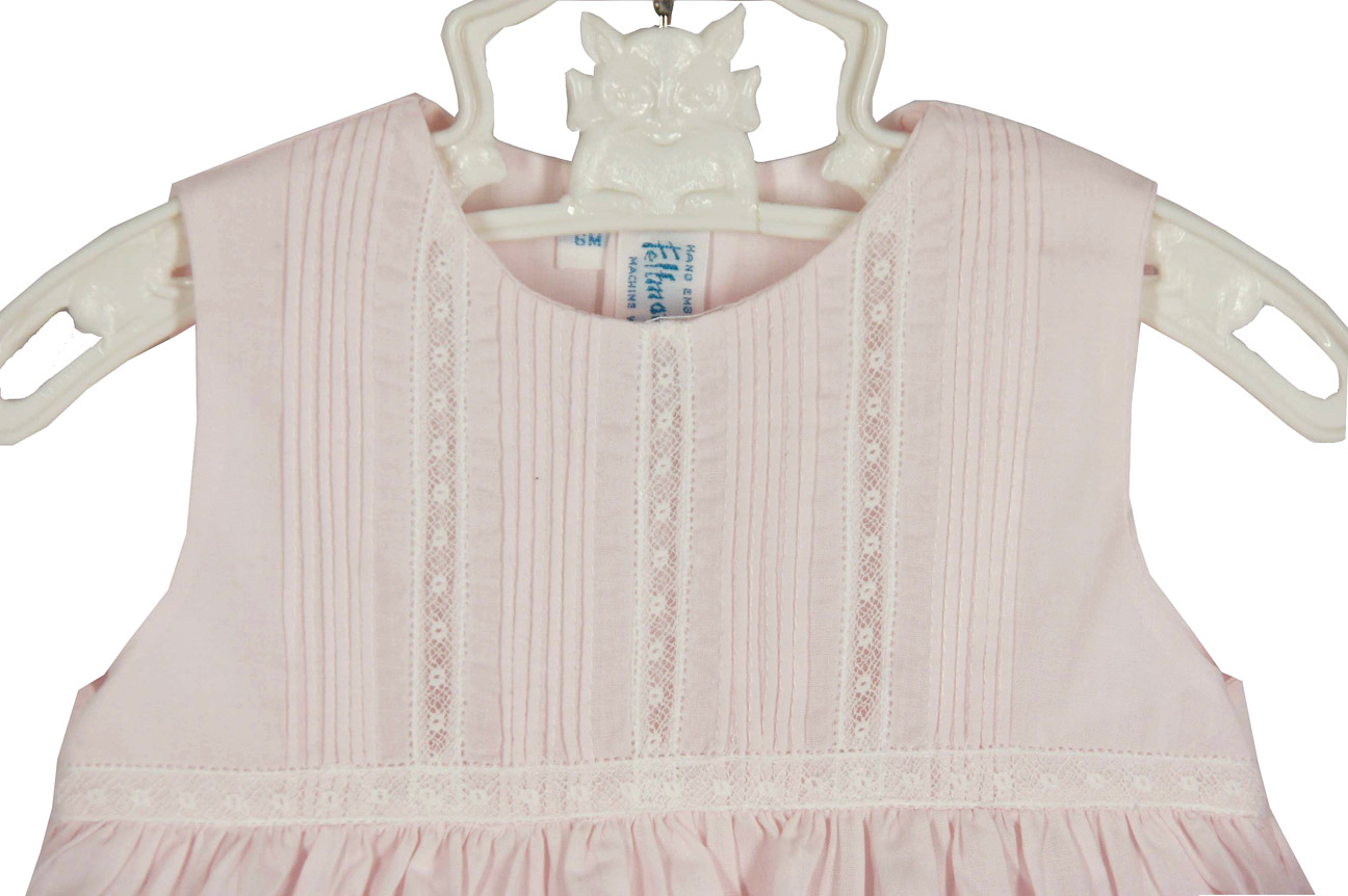 79eebb611 NEW Feltman Brothers Pink Sleeveless Dress with Pintucks and Lace ...