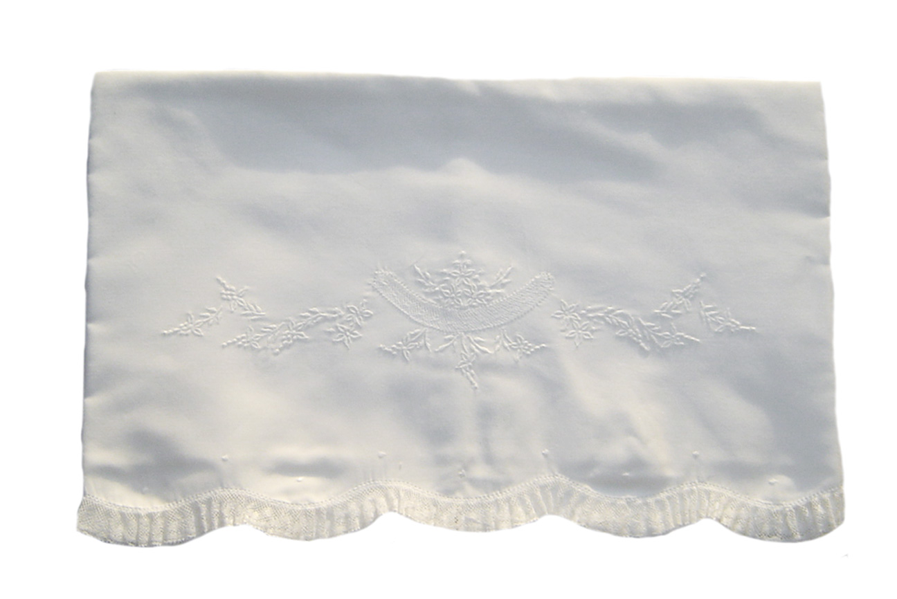 7027b72de NEW Feltman Brothers White Batiste Embroidered Blanket with Lace ...