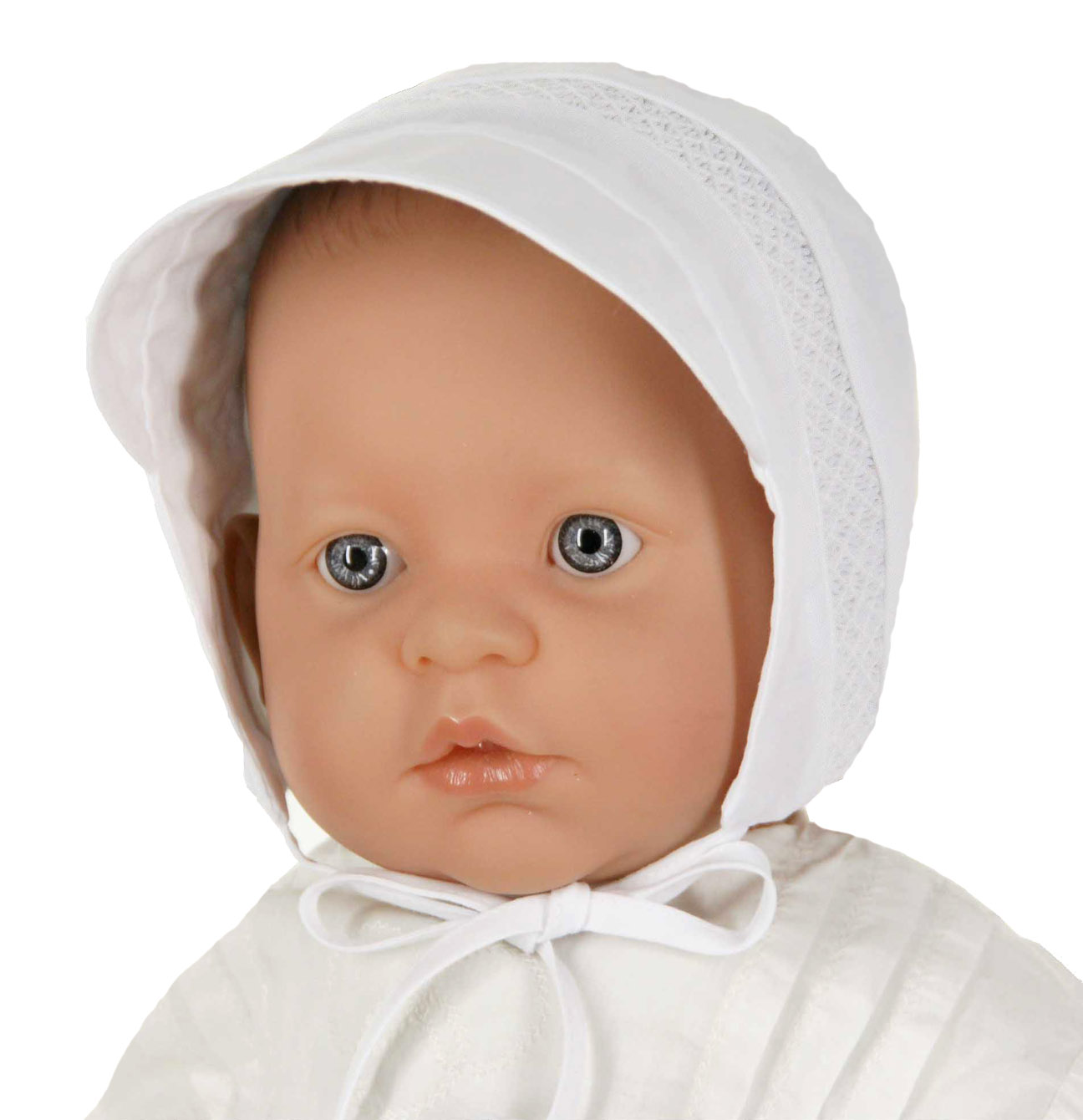 Feltman Brothers white smocked baby hat 3b1555bb34d