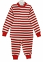 NEW Gabiano Red and White Striped Monogrammable Pajamas with Red Knit Trim
