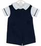 NEW Glorimont Navy Cotton Shortall with Matching Shirt