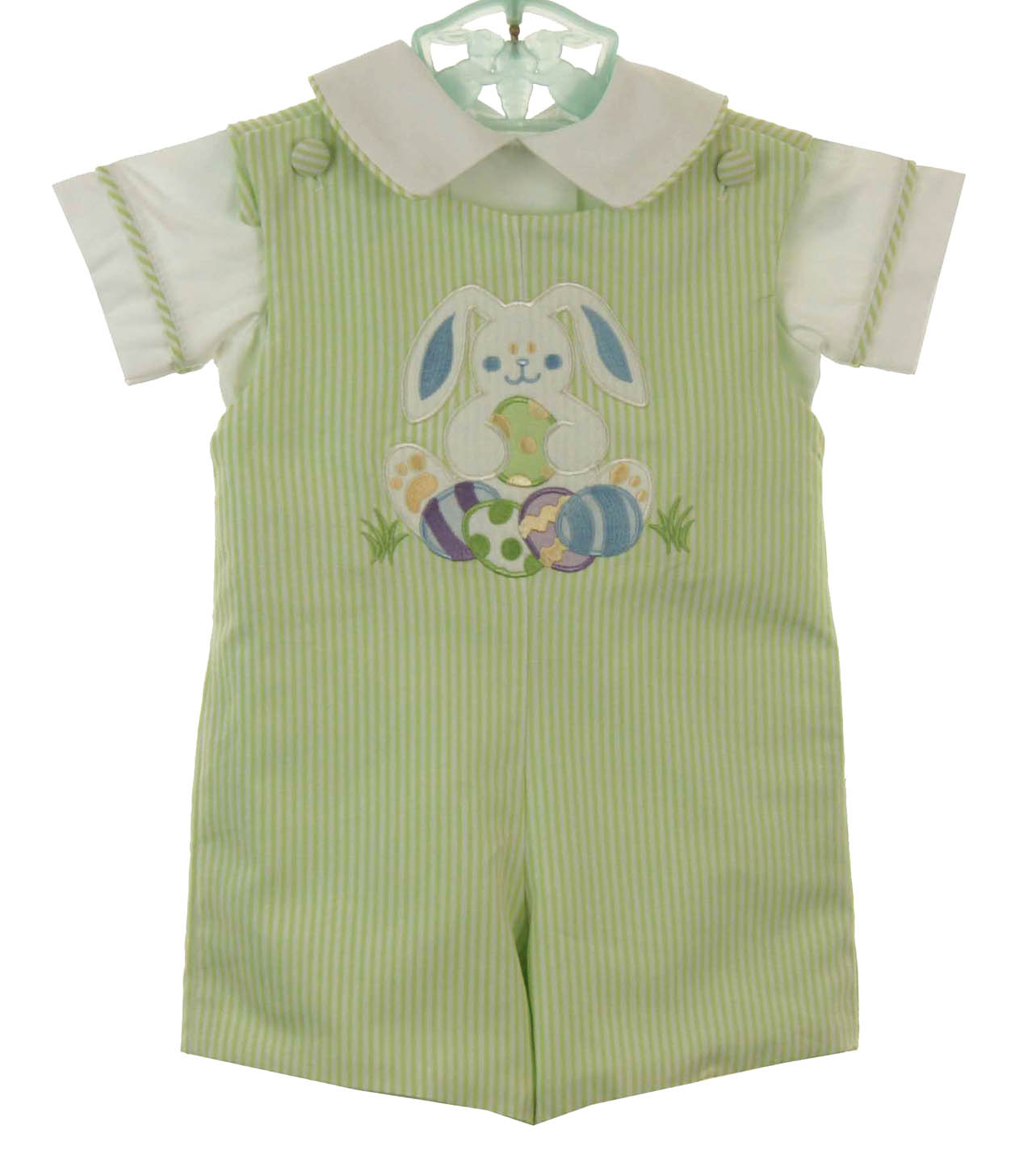 0c7383261 NEW Glorimont Reversible Green Cotton Oxford Striped Shortall and ...