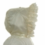 "<img src=""https://p11.secure.hostingprod.com/@grammies-attic.com/ssl/images/blue-sold-1.gif"">  NEW Hearts Delight Ivory Silk Bonnet with Lace Trim"