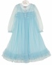 NEW Ice Blue Peignoir Set