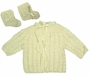 "<img src=""https://p11.secure.hostingprod.com/@grammies-attic.com/ssl/images/blue-sold-1.gif""> NEW Cream Custom Crocheted Sweater and Booties Set"
