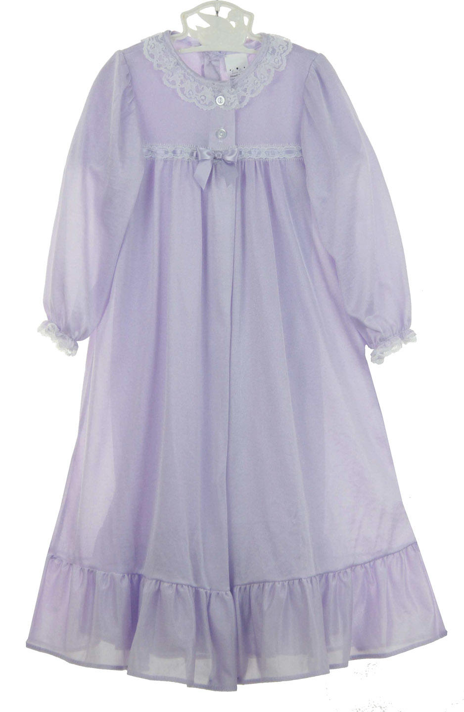 lavender peignoir set,,lilac peignoir set,toddlers nightgown and ...