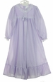 NEW Lavender Nylon Peignoir Set for Toddlers, Little Girls, and Big Girls
