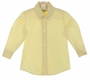 NEW Le' Za Me Yellow Button Down Collar Boys Shirt