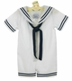 "<img src=""https://p11.secure.hostingprod.com/@grammies-attic.com/ssl/images/blue-sold-1.gif""> NEW Lito White Cotton Seersucker Sailor Suit with Dark Navy Braid Trim and Matching Sailor Hat"