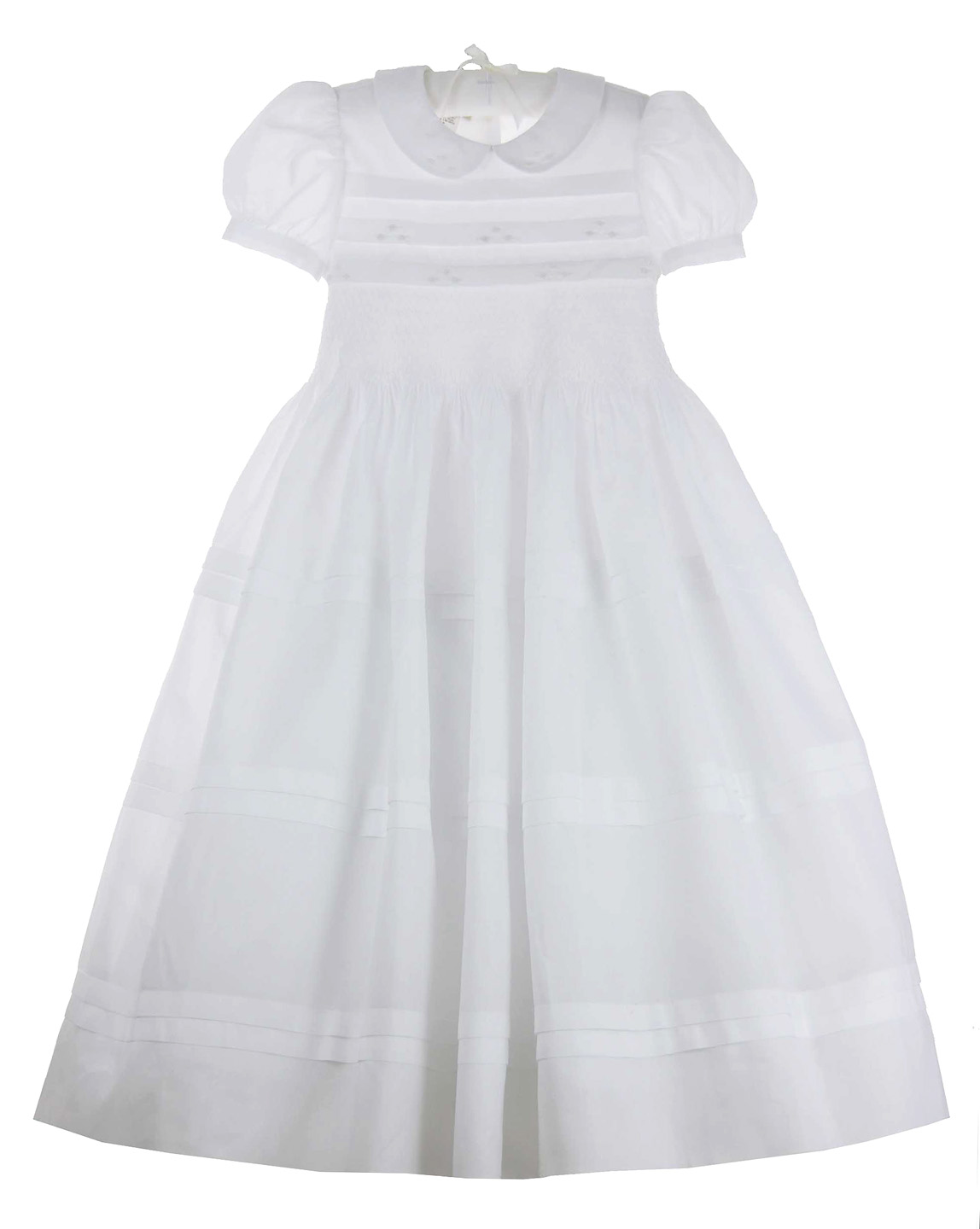 Marco Amp Lizzy White Cotton Dress With Smocking And
