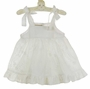 NEW Marco & Lizzy White Embroidered Cotton Eyelet Pinafore Dress