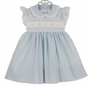 "<img src=""http://site.grammies-attic.com/images/blue-sold-1.gif""> NEW Monelli Blue Striped Seersucker Dress with Bunny Embroidery"