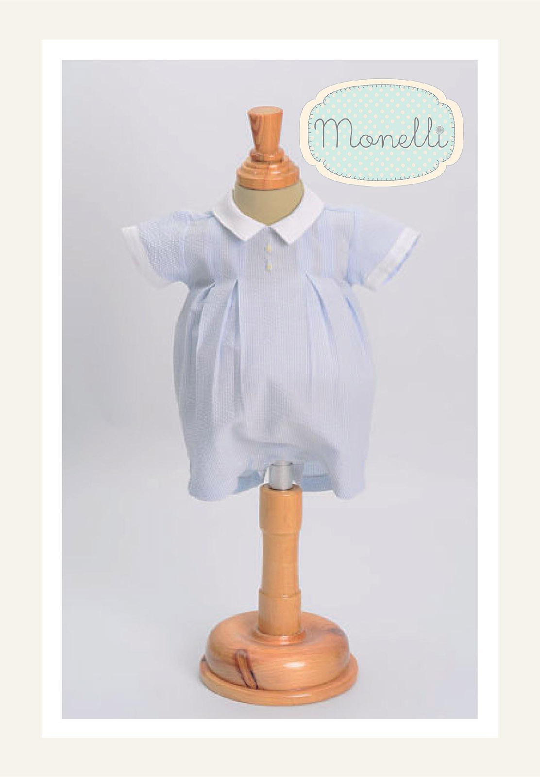 5b2fabf581c9 NEW Monelli Blue Striped Seersucker Romper with Bunny Embroidery