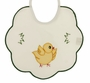 "<img src=""https://p11.secure.hostingprod.com/@grammies-attic.com/ssl/images/blue-sold-1.gif""> NEW Pale ivory Bib with Appliqu�d Chick and Green Scalloped Trim"