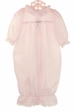 "<img src=""https://p11.secure.hostingprod.com/@grammies-attic.com/ssl/images/blue-sold-1.gif""> NEW Pale Pink Nylon Gown with White Lace Trim for Newborns"