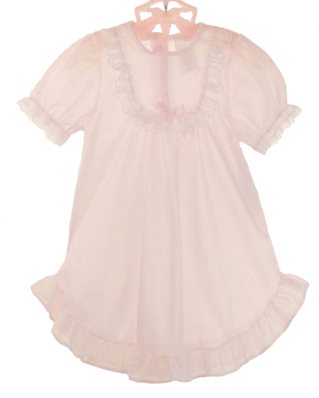 NEW Pale Pink Nylon Nightgown with Short Sleeves for Babies ...