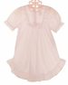 NEW Pale Pink Nylon Nightgown with Short Sleeves for Babies, Toddlers, and Little Girls