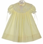 NEW Peppermint Pony Pale Yellow Heirloom Style Dress with Lace Trimmed Portrait Collar