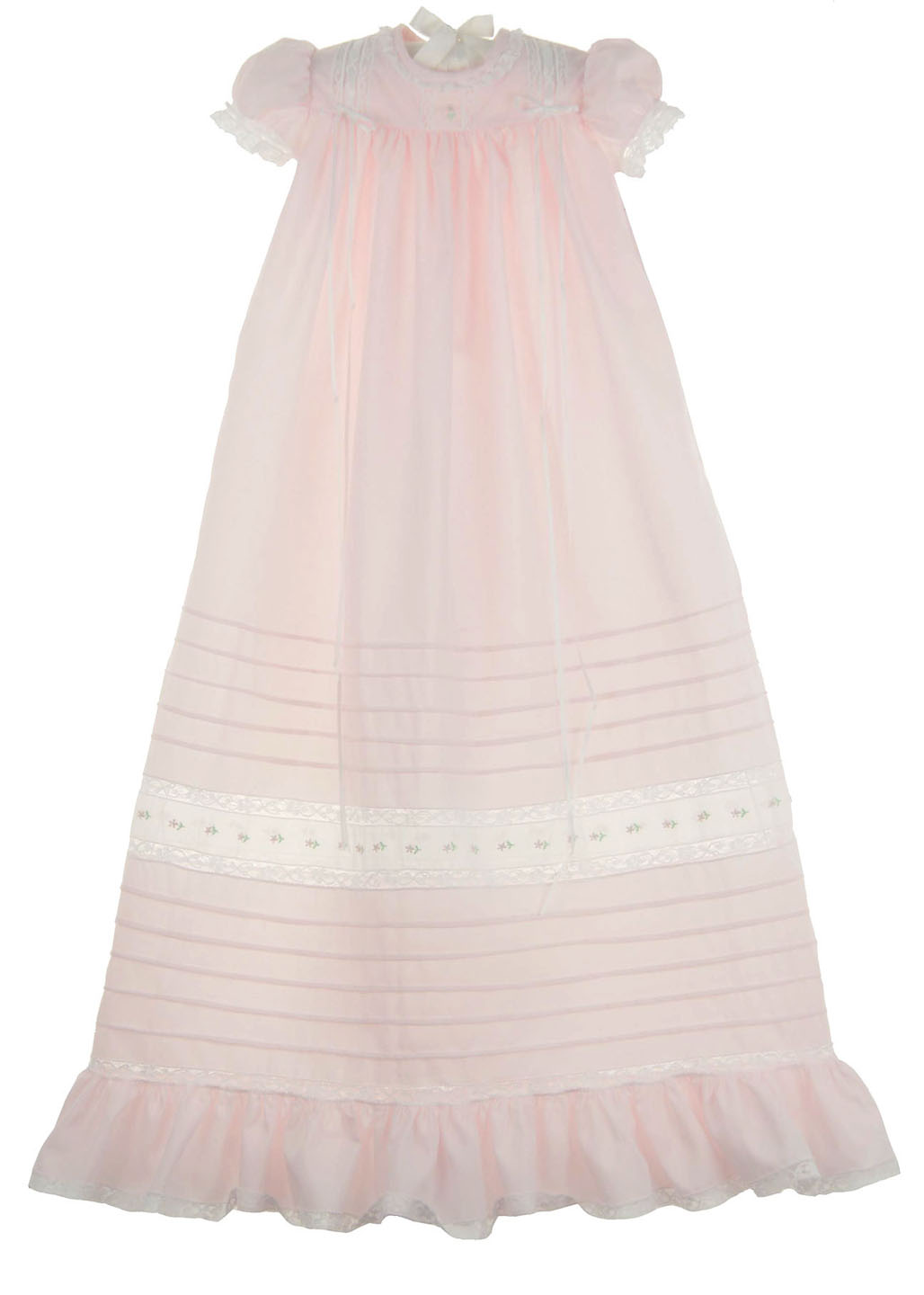 15ea28391 Peppermint Pony pink swiss batiste long gown and bonnet set,take ...