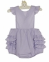 NEW Petit Ami Lavender Checked Sunsuit with Ruffle Bottom