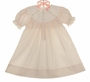 NEW Petit Ami Pale Pink Dress with Rosebud Embroidered White Portrait Collar