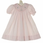 NEW Petit Ami Pink Bishop Smocked Dress with Birthday Embroidery
