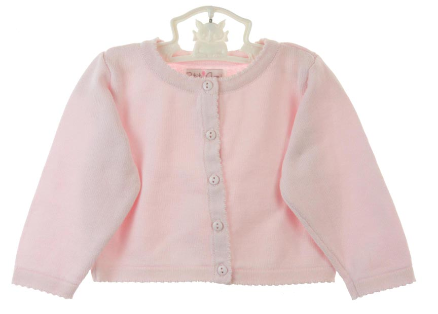 Petit Ami pink cotton cardigan sweater,pink cotton sweater for ...