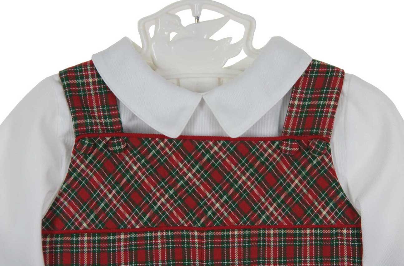 4d2f928d1 Petit Ami red plaid Christmas longall and shirt set