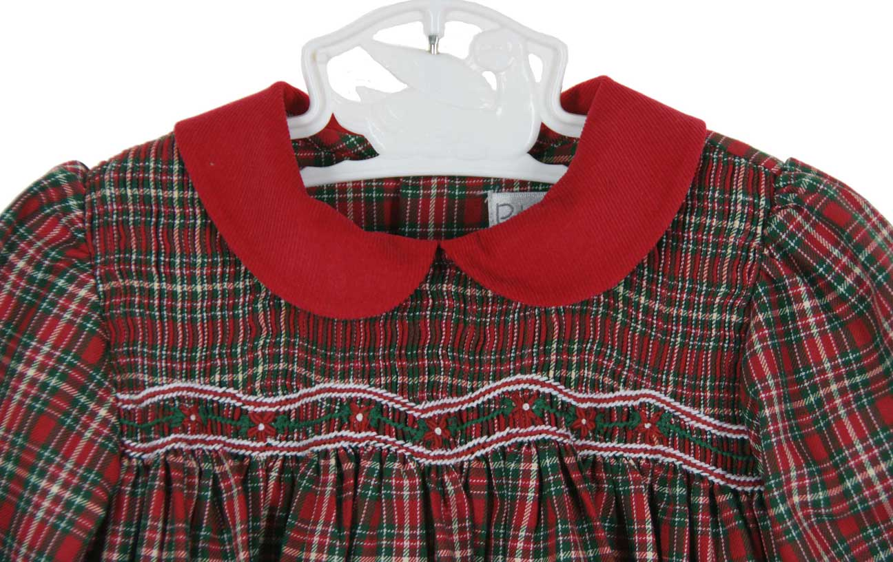 petit ami red plaid christmas dressred plaid christmas dress for baby girlsmatching brother sister christmas outfitsbaby girls red plaid smocked dress