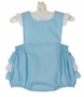 NEW Petit Bebe by Anavini Blue Checked Sunsuit with Ruffle Bottom