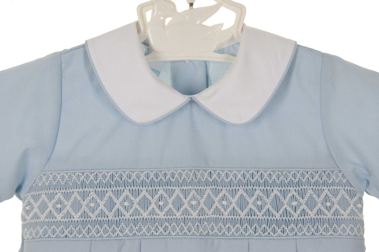 83236aa71 NEW Petit Bebe by Anavini Light Blue Smocked Romper