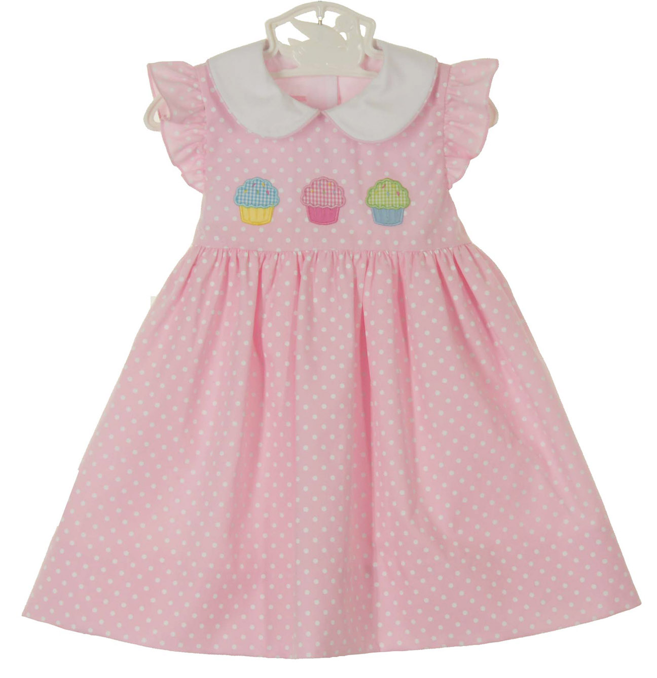anavini pink dotted dress with angel sleeves and cupcake. Black Bedroom Furniture Sets. Home Design Ideas