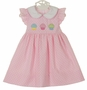 NEW Petit Bebe by Anavini Pink Dotted Dress with Appliqued Cupcakes