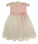 NEW Pink Baby Dress with Pink and Green Embroidered White Organdy Skirt