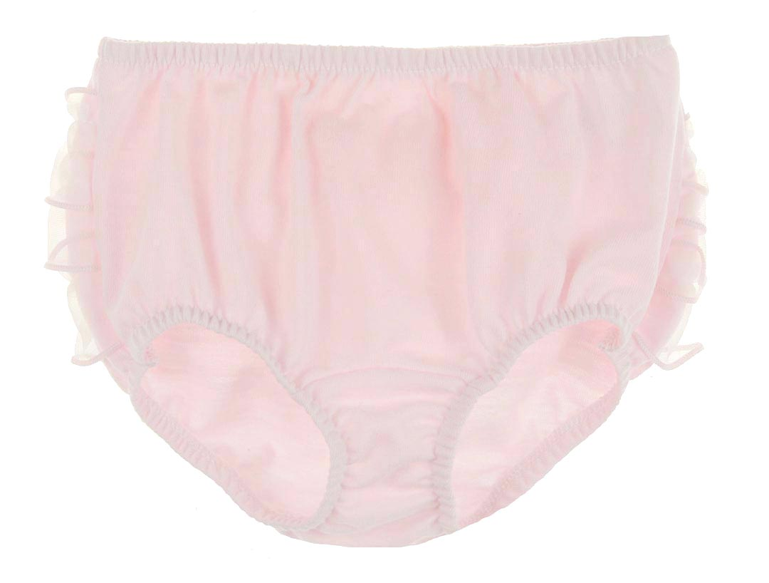 New Pink Knit Diaper Cover With Sheer Pale Pink Edged