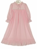 NEW Pink Knit Nightgown with White Ribbon Insertion