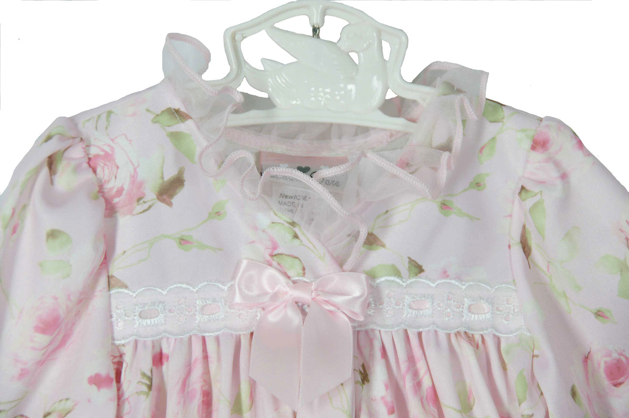 c865178e082c pink rose flowered nightgown with pink ribbon