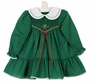 "<img src=""https://p11.secure.hostingprod.com/@grammies-attic.com/ssl/images/blue-sold-1.gif""> NEW Polly Flinders Green Dotted Smocked Dress with Double White Collar"