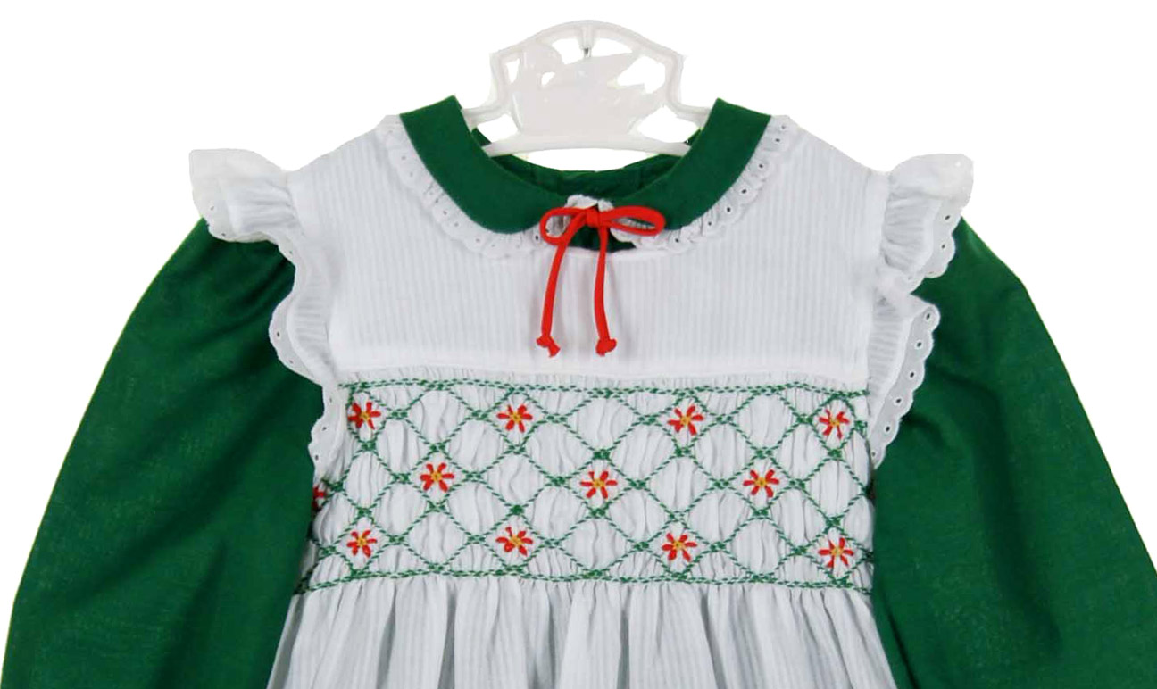 ffdadd3a768 polly flinders green dress with white smocked pinaforepolly flinders green  christmas dresspolly flinders green pinafore dresspolly