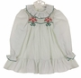 "<img src=""https://p11.secure.hostingprod.com/@grammies-attic.com/ssl/images/blue-sold-1.gif"">  NEW Polly Flinders White Dress with Green Dots, Green Embroidery, and Red Flowers"
