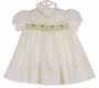 "<img src=""https://p11.secure.hostingprod.com/@grammies-attic.com/ssl/images/blue-sold-1.gif""> NEW Polly Flinders White Smocked Dress with Holiday Embroidery and Lace Trim"