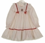 "<img src=""https://p11.secure.hostingprod.com/@grammies-attic.com/ssl/images/blue-sold-1.gif""> NEW Polly Flinders White Smocked Dress with Red Dots and Red Ribbon Trim"